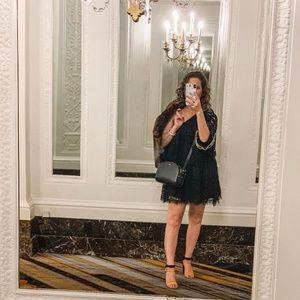 Alexis Maji One Shoulder Lace Mini Dress